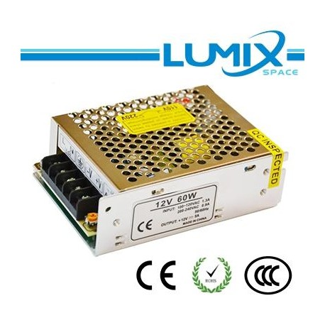 Driver Switching Power Supply Metallico - 60W 24V 2.5A